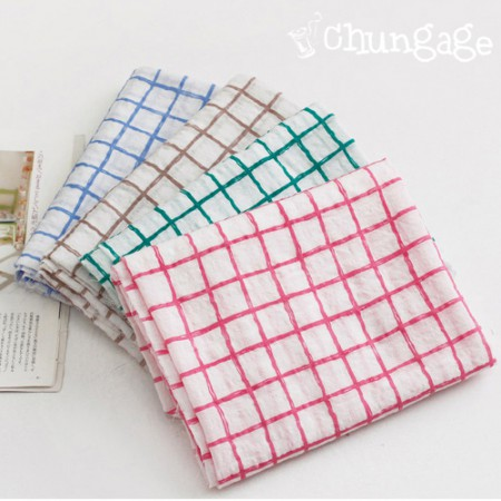 Warming Tencel Gauze) Check Line (4 kinds)