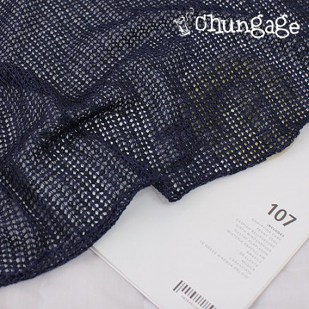 Significantly -Knit) Latch Feeling Mesh Knit Navy-Square