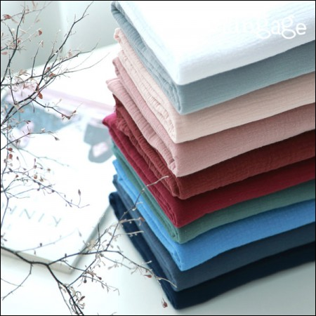 Washing yoru double gauze plain fabric 10 kinds