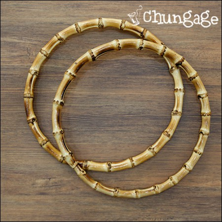 Round Bamboo Handle 大 18cm Bag Handle Macrame Bamboo Ring Dreamcatcher Ring [1 Piece]