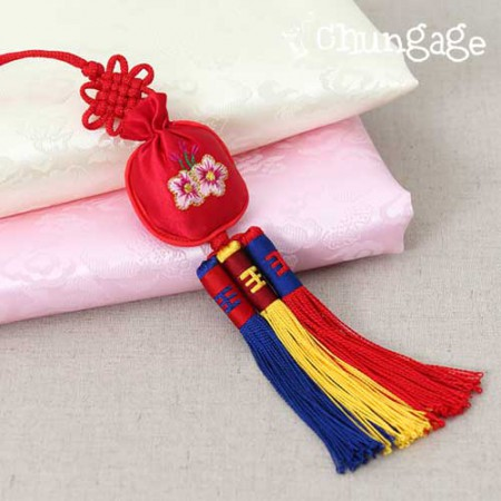 Hanbok accessory lucky bag soother red