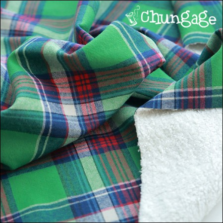 Widely-shaped Hair Bonding) Vintage Check Green