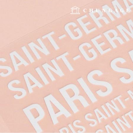 Transfer Iron Sticker Paris Blanc