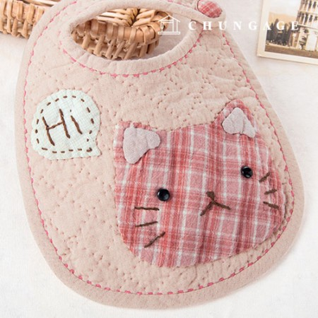 Quilted Package DIY Kit Cat Bib [CH-650366]