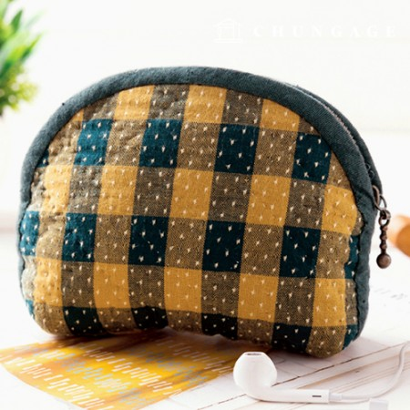 Quilted package DIY kit coin purse grid [CH-611775]