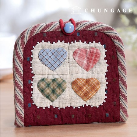 Quilted Package DIY Kit Heart Neck Pouch [CH-615267]