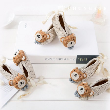 Quilted Package DIY Kit Bear Shoes (3 kinds) [CH-650167]