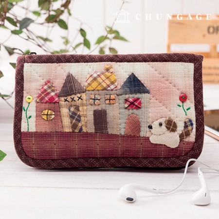 Quilted package DIY kit Country cellphone wallet [CH-612869]