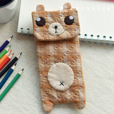 DIY kit quilt package Pretty Bear pencil case [CH-613090]