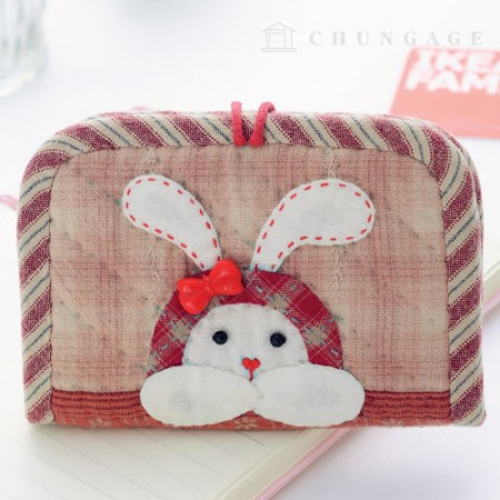 Quilted Package DIY Kit rabbit card wallet [CH-613381]