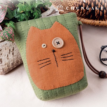 Quilted Package DIY Kit Orange wicked card holder [CH-613366]