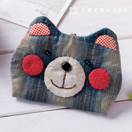 Quilted Package DIY Kit Scarlet Bear Card Wallet [CH-613376]