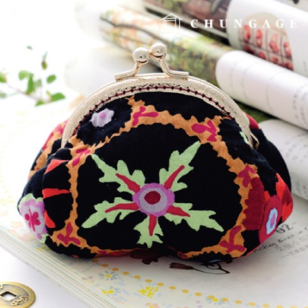 Quilted Package DIY Kit Glamorous Flower Coin Purse [CH-615075]