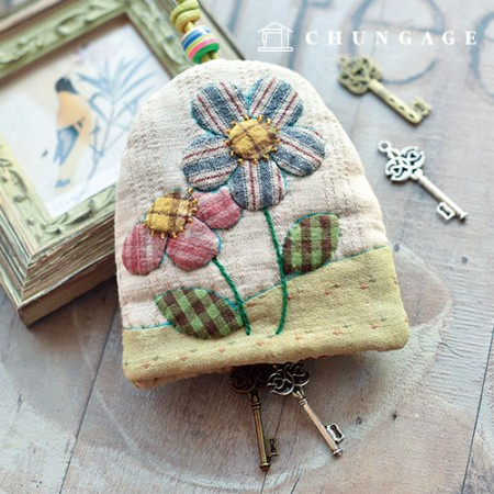Quilted Package DIY Kit love Flower Keyring [CH-612696]