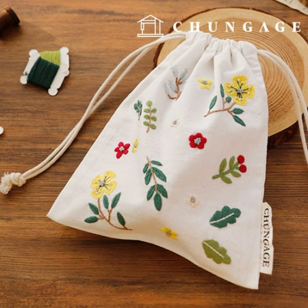 French Embroidery Package Flower DIY Kit Pansy Flower Pouch CH-560112 Hobby at Home