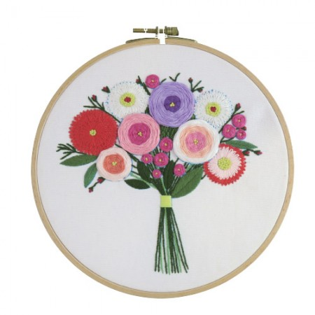 French Embroidery Package Flower DIY Kit First Meeting CH-511212 Hobby at Home