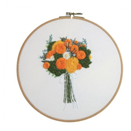 French Embroidery Package Flower DIY Kit Orange Scent CH-511219 Hobby at Home