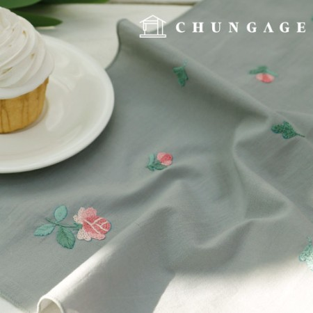 French Embroidery Package Flower DIY Kit Flying Flower Handkerchief CH-513500 Hobby at Home