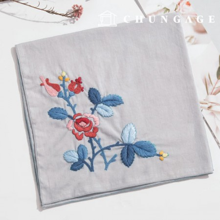 French Embroidery Package Flower DIY Kit Larosa Handkerchief CH-513506 Hobby at Home