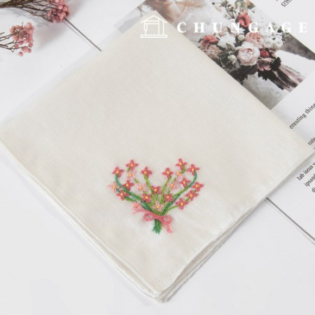 French Embroidery Package Flower DIY Kit Flower Bunch Handkerchief CH-513510 Hobby at Home
