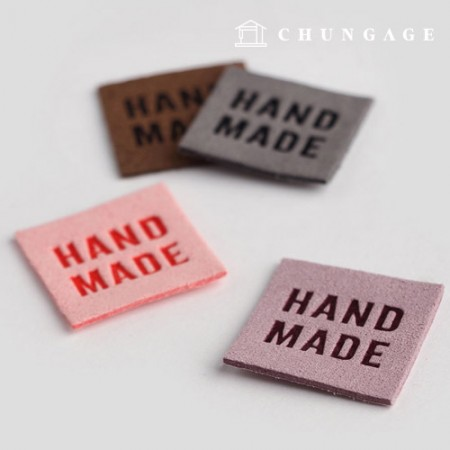 Point Labels Square Suede Handmade Labels 3 Types LB025