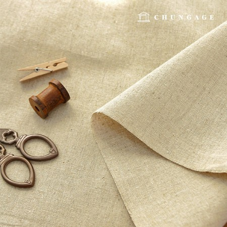 Linen Dough Fabric Wide fabric Light wood color