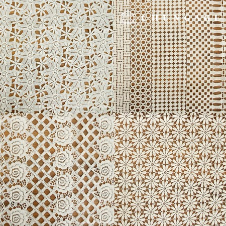 8 kinds of cotton lace embroidery fabric [G5]