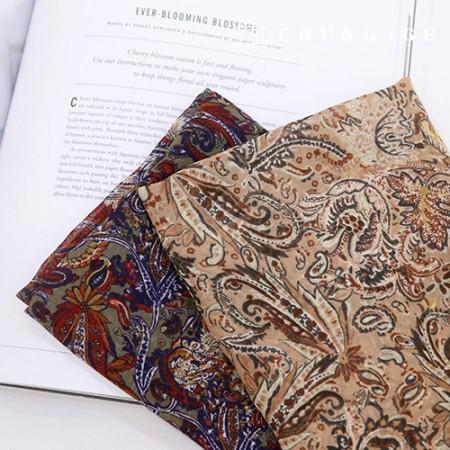 Widely Chiffon Fabric Paisley fabric Alice 2 types