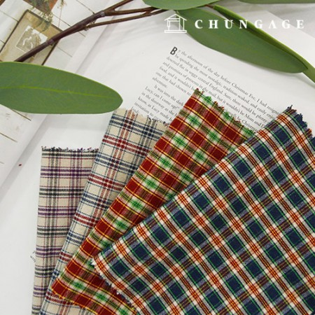 20s Washing ombre fabric Check Fabric double grid Check