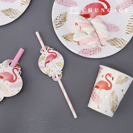 Party Supplies Tableware Set Flamingo (6 persons)