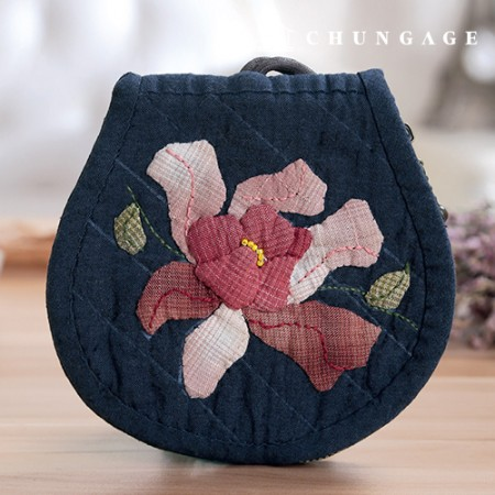 Quilted Package DIY Kit Flower Song Key Wallet (Pink) [CH-612703]