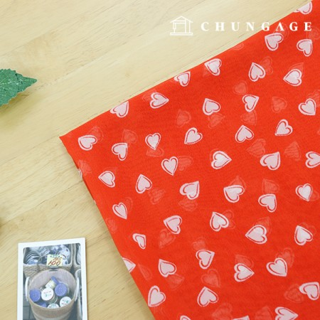 Exclusive Special Price Chiffon Red Heart