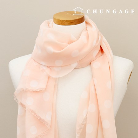 Limited Special Price Chiffon Refreshing Peach Dot