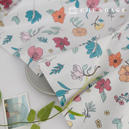 Waterproof fabric non-toxic TPU laminate cloth botanical flower