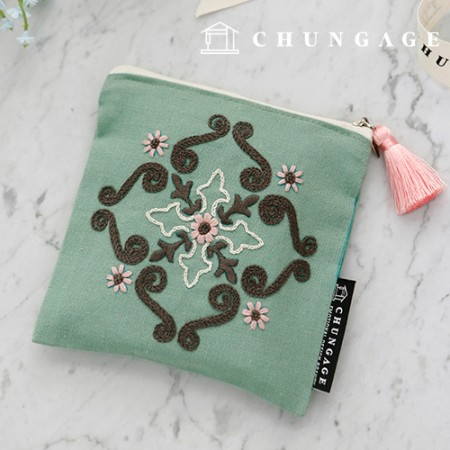 French Embroidery Package Flower DIY Kit Persian Pouch CH-560115 Hobby at Home