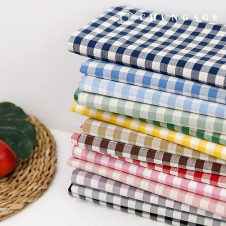 Cotton Fabric 20 Count Ombre Check Check Gingham Check Fabric 14 Types
