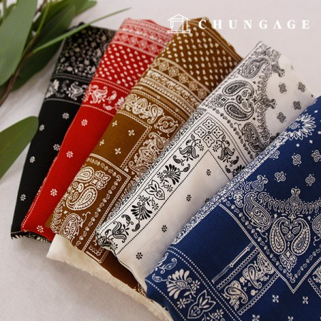 Rayon Fabric Bandana Fabric Paisley Ethnic Fabric 5Color