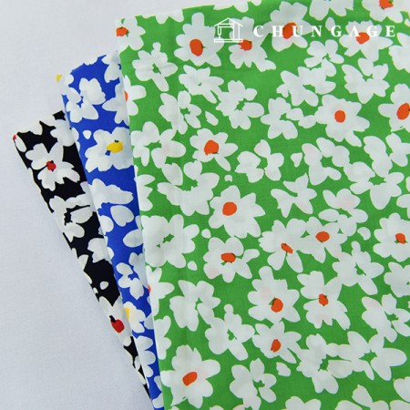 Asa Fabric 60 Water Cotton Fabric Flower Fabric Vivid Flower 3 Types