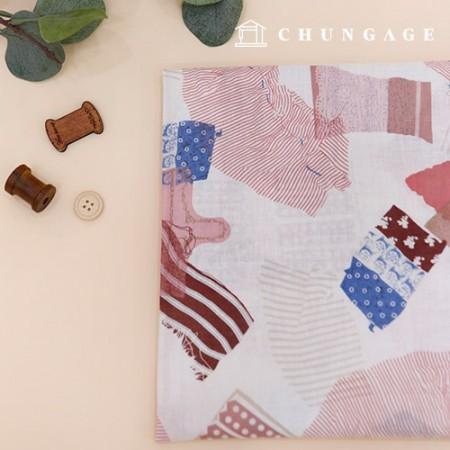 Linen Fabric Wide Linen Linen Fabric Red Patch