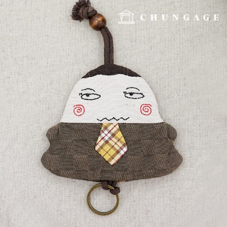 Quilt Package DIY Kit Check Tie Keyring CH-612669