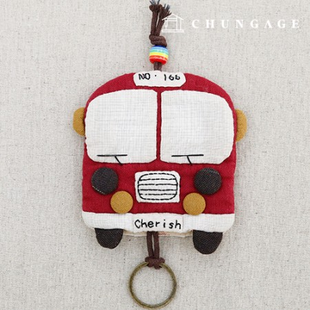 Quilted Package DIY Kit Bus Keyring [CH-612686]
