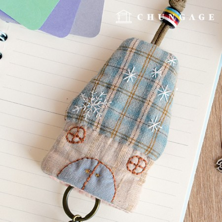 Quilt Package DIY Kit Winter House Keyring [CH-612685]