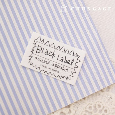Double-sided label Black label White 5 pieces KL032