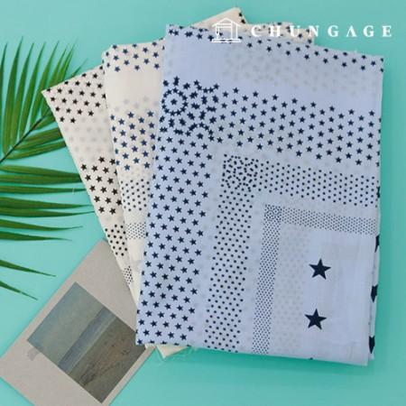 60-su Asa Fabric Asa Cotton Summer Cloth Three kinds of shooting stars