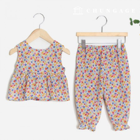 Clothes Pattern Children Top and Bottom Set Clothes Pattern [P1399]