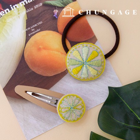 French Embroidery Package DIY Kit Orange Hair Accessories CH-512512 Hobby at Home