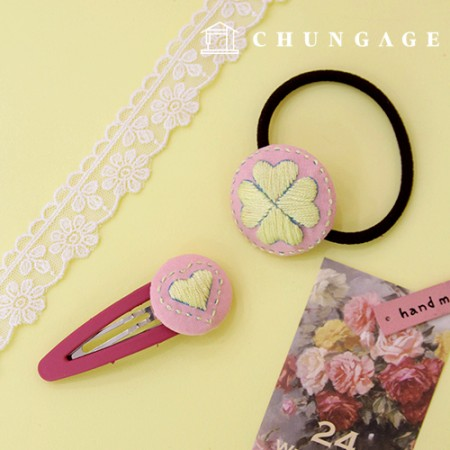 French Embroidery Package DIY Kit Heart Hair Accessory CH-512513 Hobby at Home