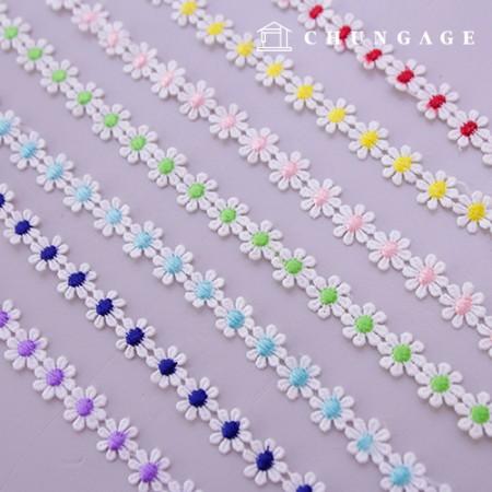 Mask Necklace line White Petal Chemical 058 Flower Lace 15mm Mask 7 kinds of strap making