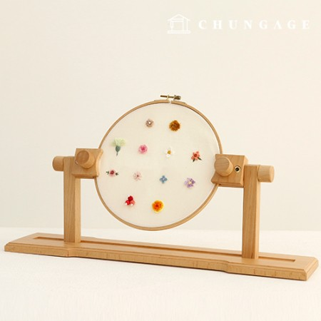 primium solid wood legless frame French embroidery