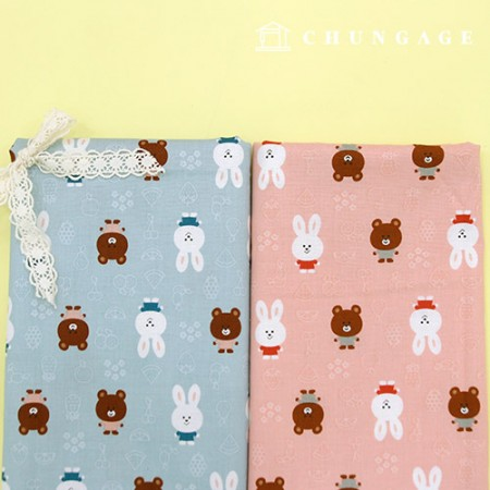 20 cotton fabric, cute animal 2 types